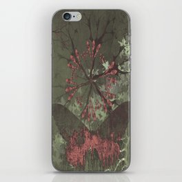 Little butterfly and the flower, pink, butterfly, love, gray, flower iPhone Skin
