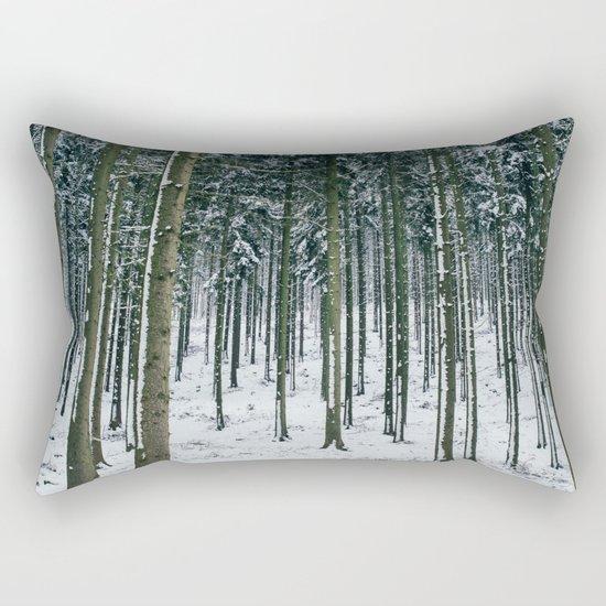 Winter Forest Treescape Rectangular Pillow