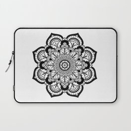Black and White Flower Laptop Sleeve