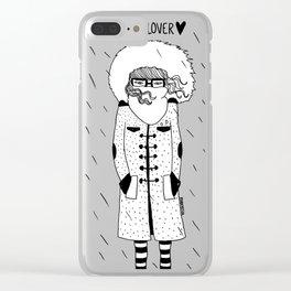 Rain Lover Clear iPhone Case