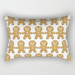 Gingerbread Cookies Pattern Rectangular Pillow