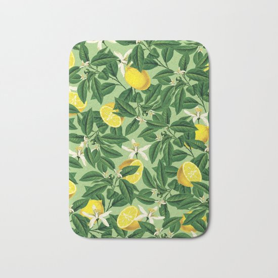 Lemonade || #society6 #decor #pattern Bath Mat