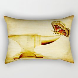 The anvil and the butterfly Rectangular Pillow