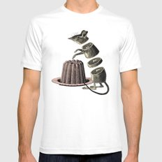 Deconstructed mouse White MEDIUM Mens Fitted Tee