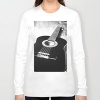 guitar Long Sleeve T-shirts featuring Guitar by Falko Follert Art-FF77
