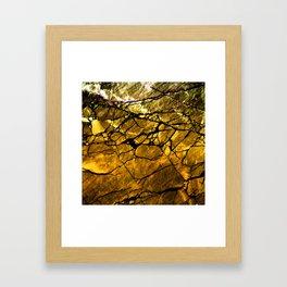 Gold Labradorite Crystal Framed Art Print