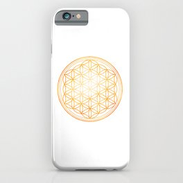 Sacral Orange Watercolor Flower of Life iPhone Case