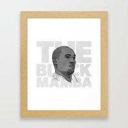 The Black Mamba Framed Art Print