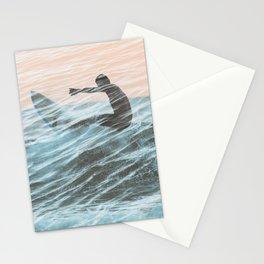 Surfer Overlap Stationery Cards