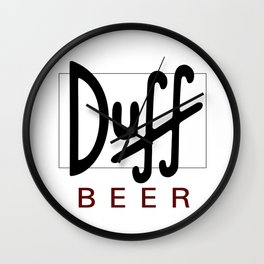 Duff Beer Logo Black Wall Clock