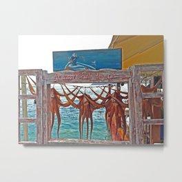 Ammoudi Fish Tavern, Oia Metal Print