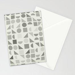 Greyscale Shapes Stationery Cards