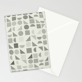 Greyscale Shapes Stationery Cards