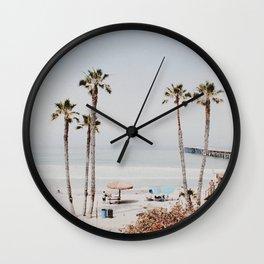 palm trees x / california Wall Clock