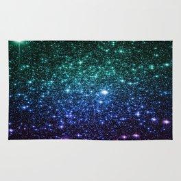 Galaxy Stars : Teal Blue Purple Rug