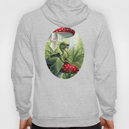 Smoking Dragon in Cannabis Leaves Hoody