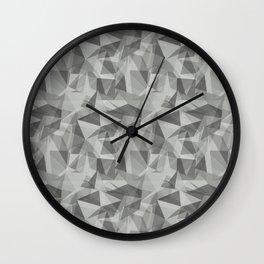 Abstract Geometrical Triangle Patterns 3 Benjamin Moore Metropolitan Gray AF-690 Wall Clock