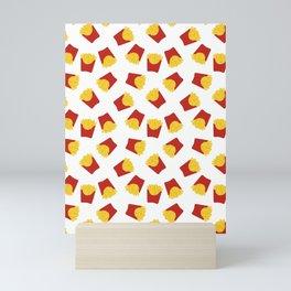 FRENCH FRIES POMMES FAST FOOD PATTERN Mini Art Print