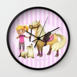 Horse rider / Cavalière Wall Clock