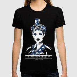 """Hmong Woman (2 colors) """"Peb Cov Neeg Txawj Sib Pab"""" T-shirt"""