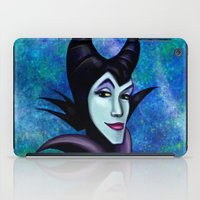 maleficent iPad Cases featuring Maleficent by Kimberly Castello