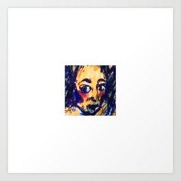 Red Cheeks Woman Art Print