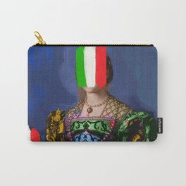 French Italian Pop Remix of Classical Painting of Bronzino Carry-All Pouch