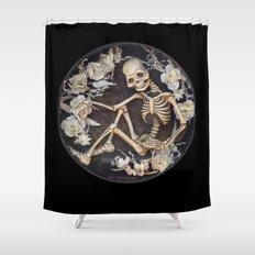 In Memoriam Skeleton  Shower Curtain