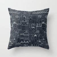rubyetc Throw Pillows featuring city at night by rubyetc