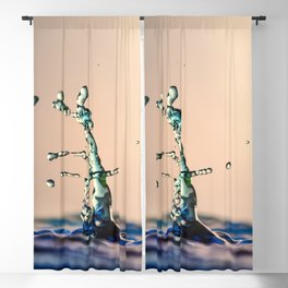 Water drops colliding Blackout Curtain
