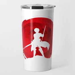 Red Eren yeager Travel Mug