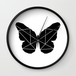 Geometric Butterfly Wall Clock