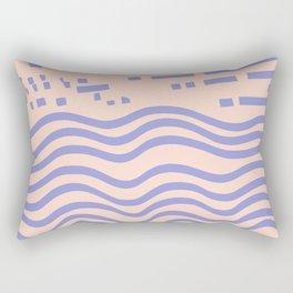the abstract beach Rectangular Pillow