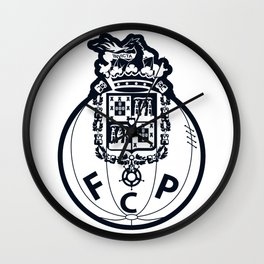 FC Porto Blue crest Wall Clock