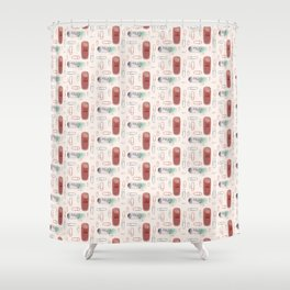 Erasers and paper clips Shower Curtain