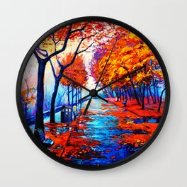Tardis Art Tree Blossom Wall Clock