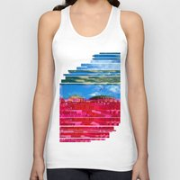oslo Tank Tops featuring Beautifully Glitched Oslo, Norway by GlitchedGirl