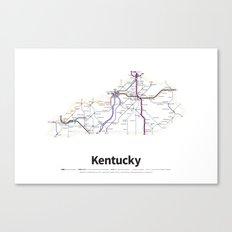 Highways of the USA – Kentucky Canvas Print