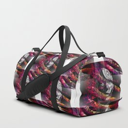 Trapped in turmoil of thoughts Duffle Bag