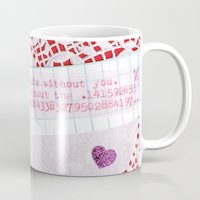 pi Mugs featuring pi by judy lee