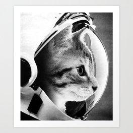 Astronaut Cat #3 Art Print