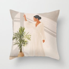Opened Window Throw Pillow