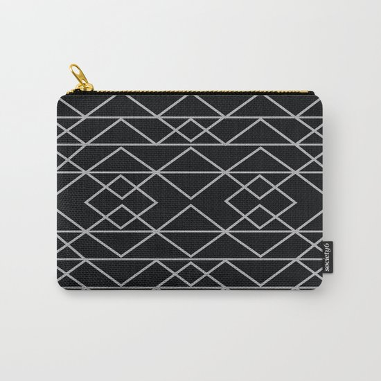 Triangles In Silver Carry-All Pouch