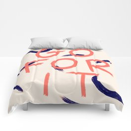 GO FOR IT #society6 #motivational Comforters