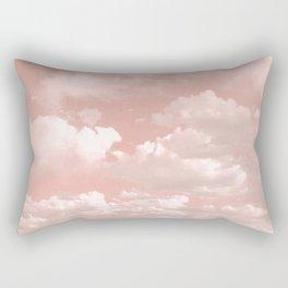 Clouds in a Peach Sky Rectangular Pillow