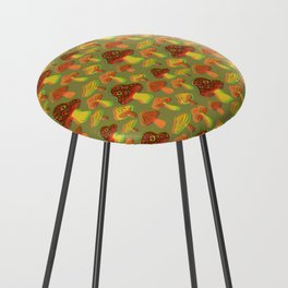 Mushroom Print in 3D Counter Stool