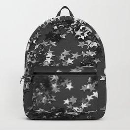 Gray Black Night Glitter Stars #1 #shiny #decor #art #society6 Backpack