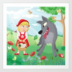 Little Red Riding Hood Art Print