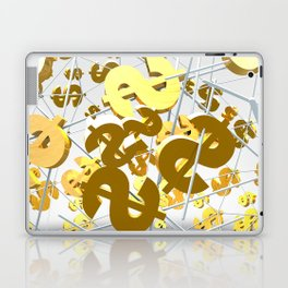 Golden dollar sign Laptop & iPad Skin
