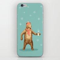polar bear iPhone & iPod Skins featuring Polar Bear by Fresh Prints